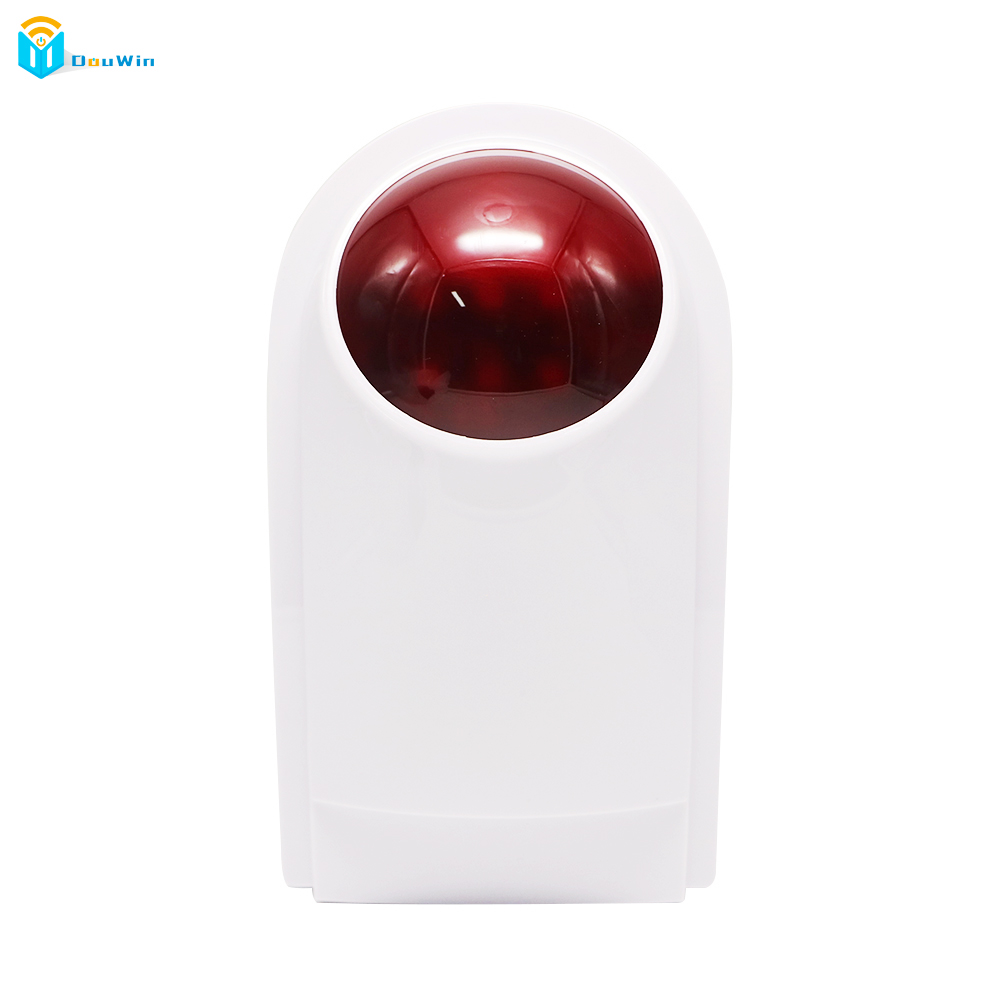 Wireless strobe siren for GSM alarm system work with infrared detector door senor Security System Alarm Wireless Siren ir 4beams outdoor 20m infrared barrier detector home yard door alarm for my gsm alarm system