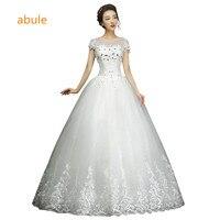 2016 New Arrival White Lace Sleeve Princess Wedding Dress Bridal Gown Custom Size Vestido De Noiva
