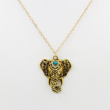 Vintage Bohemian Ethnic Thai Elephant Pendant