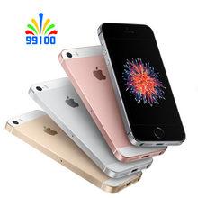 Оригинальный б/у Apple iphone SE разблокированный 4G LTE экран 4,0 дюйма процессор A9 2 гб озу 16 гб/32 гб/64 гб пзу отпечаток пальца
