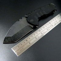 High Quality MDF 3 Folding Knife Stonewash Steel Handle 440 Blade Hunting Folding Knife Outdoor Camping