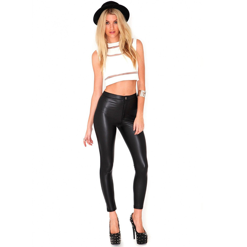 4f33292e0a8 L91 Celebrity Style Women High Waisted Neon Metallic Disco Leggings Pants  Ladies Pant Candy Color Plus Size 2016 Free Shipping-in Leggings from  Women s ...