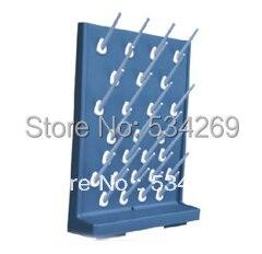 PP di Piccola Dimensione Singola Dripping Stand Laboratorio Dripping Mensola con 27 ForiPP di Piccola Dimensione Singola Dripping Stand Laboratorio Dripping Mensola con 27 Fori