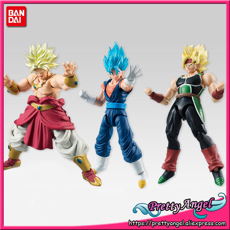 PrettyAngel - Genuine Bandai Tamashii Nations SHODO Vol.5 Dragon Ball Z Vegetto & Bardock & Broly (9cm tall) Action Figure creality 3d printing pen 1 75mm abs pla 3d pen 4 colors available for kids drawing with 10 meters 3d printer filament as gift
