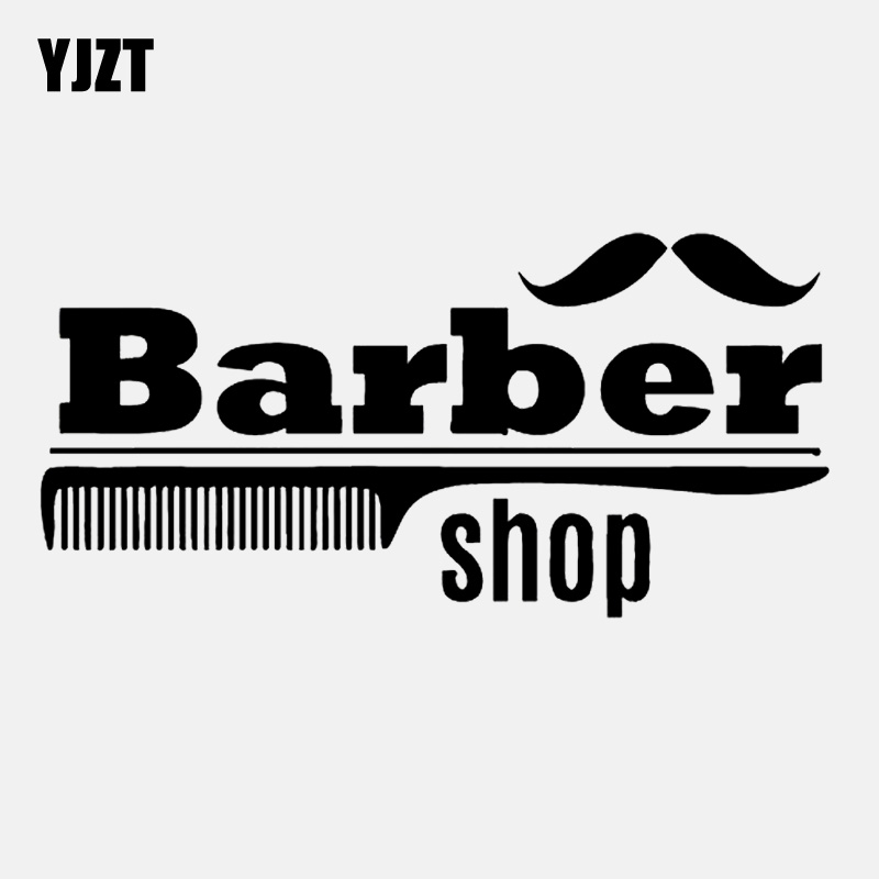 Car Stickers Have An Inquiring Mind Yjzt 14.4cm*7cm Barber Shop Mustage Comb Brush Decal Vinyl Black/silver Car Sticker C22-0187 Delicious In Taste Exterior Accessories