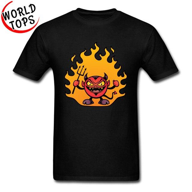 2f42d689 Fat Devil Demon Top T-shirts Print Short Sleeve Funny Comic T Shirt Cartoon  Design School Tops T Shirt Boy Free Shipping