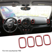 4pcs instrument panel air outlet shell modified decorative ring for BMW mini countryman F60