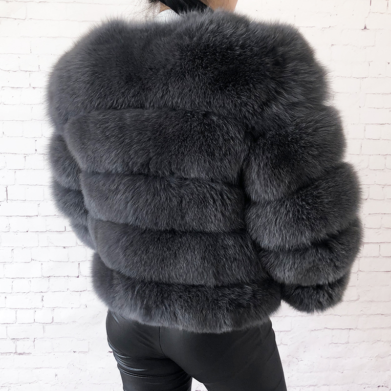 2019 new style real fur coat 100% natural fur jacket female winter warm leather fox fur coat high quality fur vest Free shipping 133