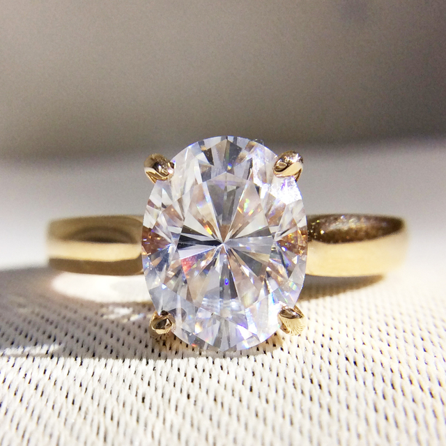 Gorgeous 1 Carat Ct Df Color Lab Grown Oval Moissanite Diamond Ring