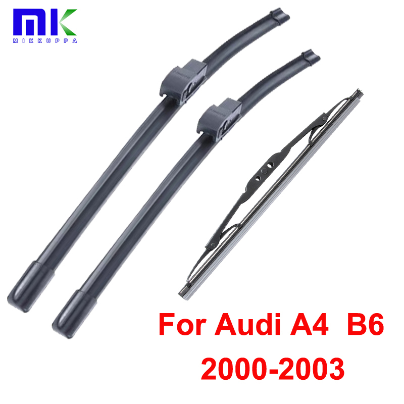 Wiper Blades For Audi A4 B6 2000 2001 2002 2003 Front and Rear High quality Natural Rubber Windscreen Wipers Auto Car Styling
