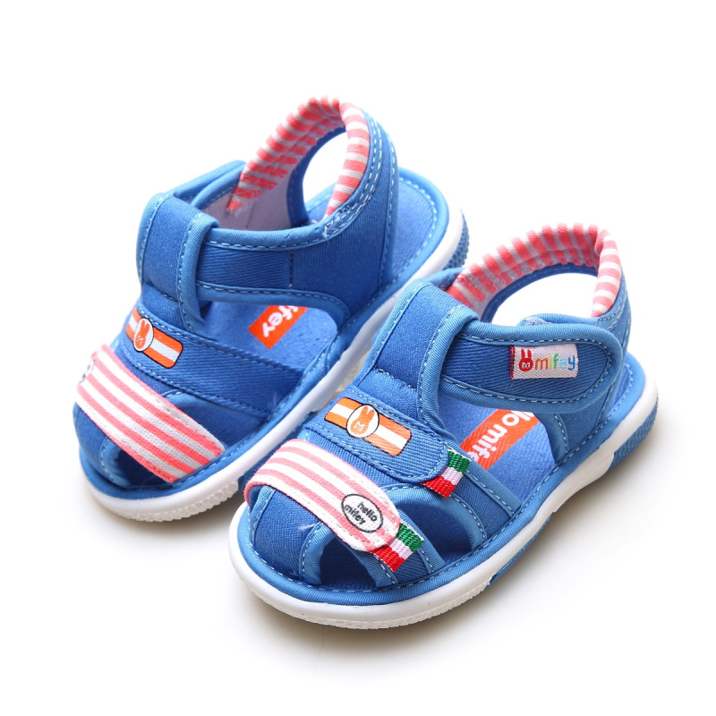 2017 Baby Boys Girls Brand Summer Sandals Children Casual Cotton Fabric Sandals Infants Anti-Slip Striped Shoes X09