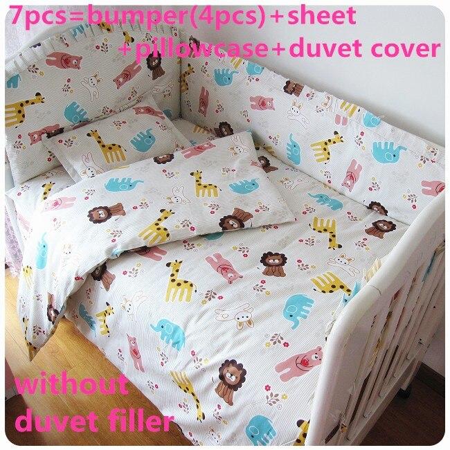 Promotion! 6/7pcs Baby bedding set Baby crib bedding set,bumper sheet pillowcase duvet cover120*60/120*70cmPromotion! 6/7pcs Baby bedding set Baby crib bedding set,bumper sheet pillowcase duvet cover120*60/120*70cm