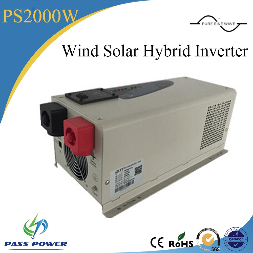2016 Hot Selling 12V/24V to 110V--240V Low Frequency Wind Solar Hybird  Inverter 2000W
