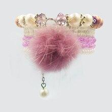 7pcs/set Boho Jewelry Bracelets & Bangles for Women Korean pom pomTassel Elastic Charm Crystal bead beaded Bracelet Femme Bijoux
