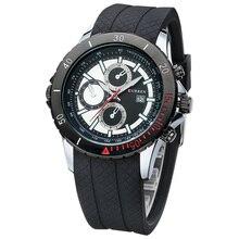 CURRE Nnew moda casual reloj de cuarzo de los hombres grandes de dial cronógrafo impermeable reloj envío gratis 8143