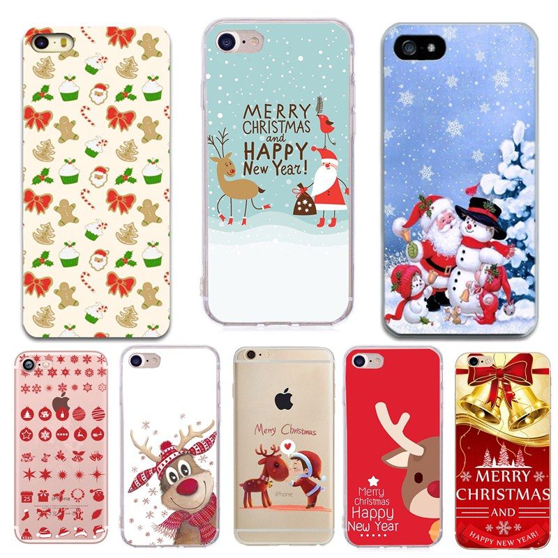 Christmas Phone Case Iphone 7.For Capinha Iphone 7 Plus Glitter Case Cover Coque Silicon Christmas Phone Case For Iphone 8plus 7plus 8 7 6 6 S Se 5 5 S Se