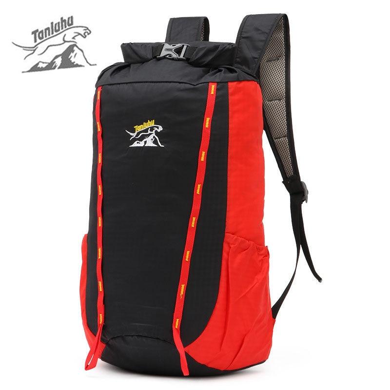 Lightweight Skin Bag Waterproof Nylon Backpack Foldable Rucksack Men Women Sports School Bags Camping Hiking Backpacks XA359WA