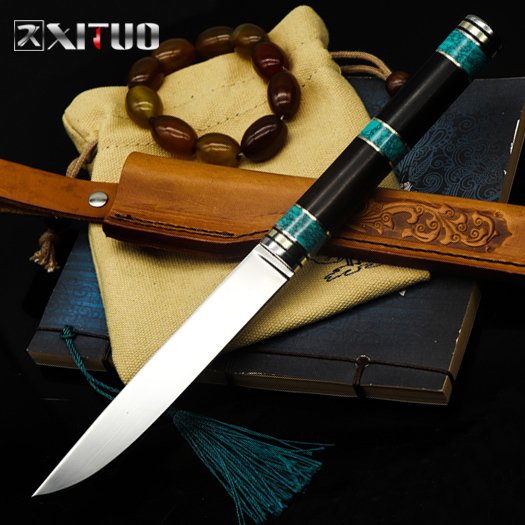 XITUO High Hardness VG10 Steel New Sharp Sliced Meat Salmon Cut Fruit Kitchen Chef  Vegetable Outdoor Camping Portable Knife