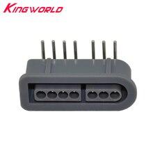 10 adet Yüksek kaliteli 90 derece dişi 7 Pinli konnektör parçası Soket Yuvası Nintendo SNES Oyun Konsolu denetleyici