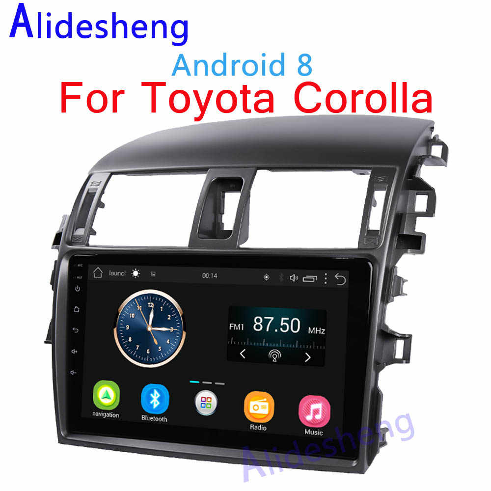 2din 2.5D Android 8.0 Car DVD Multimedia player for Toyota Corolla 2007 2008 2009 2010 2011 2012 2013 car radio GPS navigation