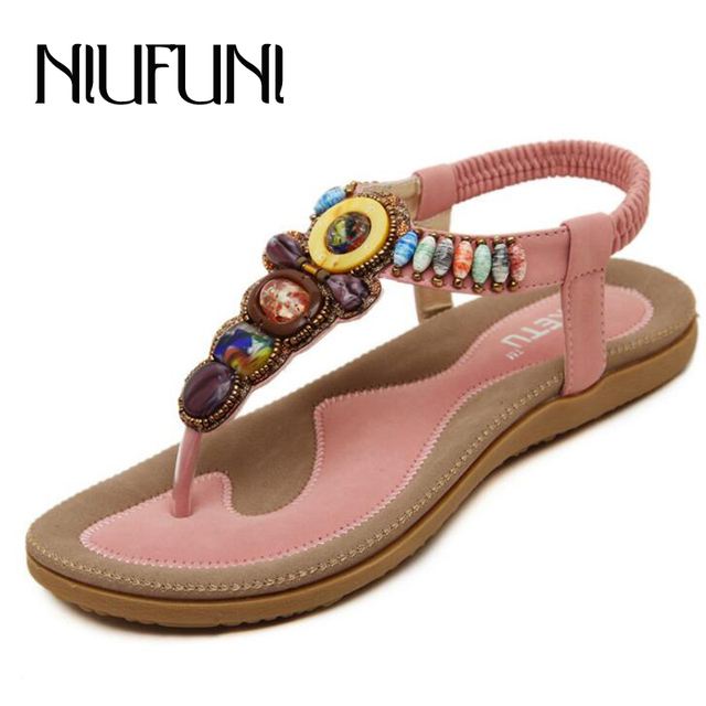 cheap sale for nice find great sale online 2018 new arrival women slippers sweet bead summer shoes big size 35-42 fashion flip flops classic bohemia shoes free shipping low price fee shipping OETR2