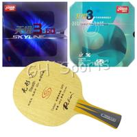 Pro Table Tennis PingPong Combo Racket Palio Stealth 2 with DHS NEO Hurricane 3 and Skyline 3 60 Shakehand Long handle FL