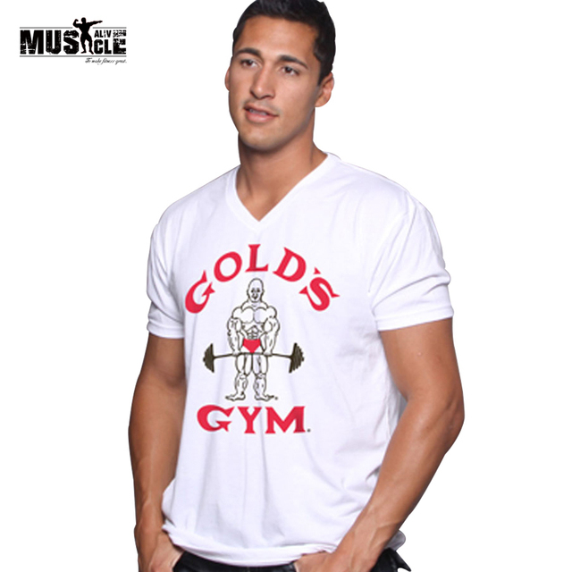 3d955130 Soft style Mens Bodybuilding Golds T Shirt Fitness Workouts Tops&Tee  Clothes tshirt 100% Premium Cotton