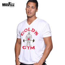 Soft style Mens Bodybuilding Golds T Shirt Fitness Workouts Tops&Tee Clothes tshirt 100% Premium Cotton  Men t-shirt