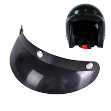 Hot Sale Vintage 3-Snap Motorcycle Helmet Peak Lens Open Face Sun Shade Visor Shield(China)