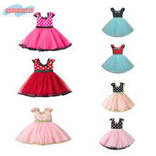 88363fd5cef Filles Minnie Tutu ensembles de robe nœud-noeud Ballet souris princesse Costume  robes à pois