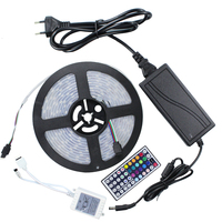 DC12V 5m/lot 300LED 5050 IP67 silicon tube waterproof Flexible LED Strip,60LED/m+44keys remote controller +DC12V 6A power supply