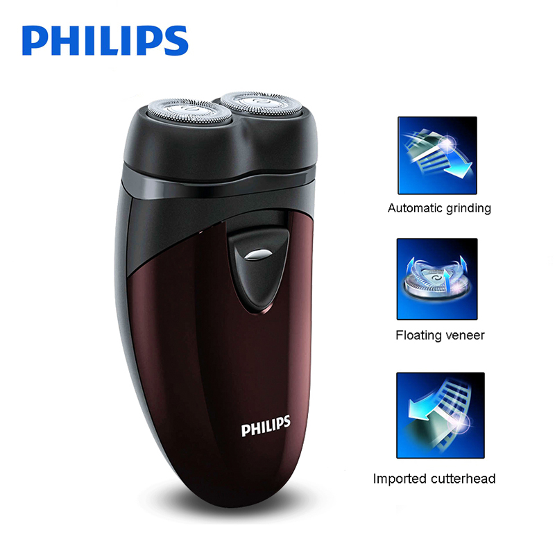 100% Original Philips Electric Shaver PQ206b Rotary With Two Independent Floating Heads AA Battery For Men's Electric Razor philips s551 electric double heads 3d shaver