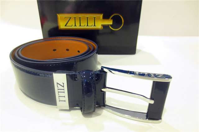 ZILLI belt men's 2016 new style high quality fashion business elegant real leather classic pin buckle free shipping