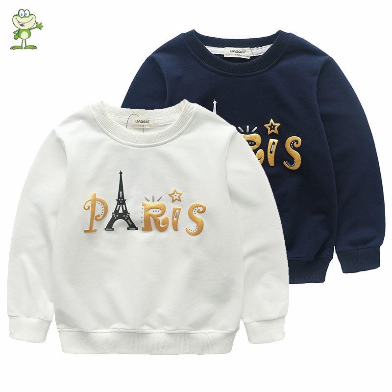 2016 autumn winter children unisex sweatshirt New baby boys clothings toddler girls hoodies spring kids T shirt for 90-130cm