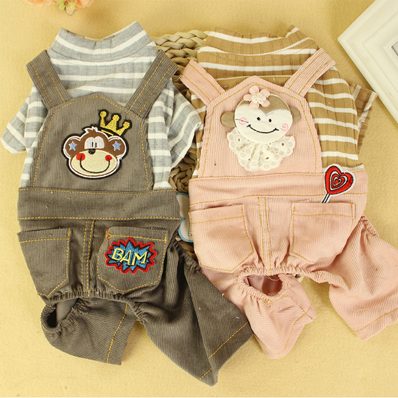 Dog Clothing & Shoes Frugal Striped Cotton Pet Dog Jumpsuit For Small Dog Pomeranian Puppy Romper Winter Autumn Cat Jumpsuit Puppy Outfit Dog Jumpsuit Rq001 Non-Ironing