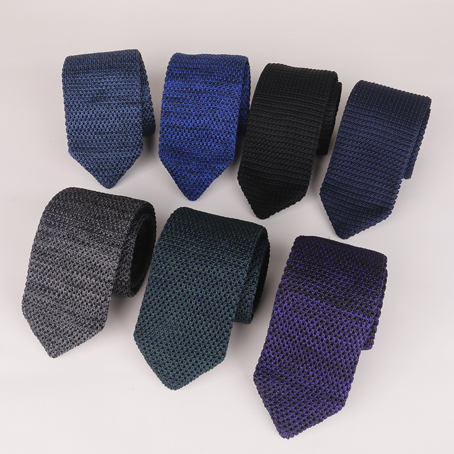 Men Ties 2018 Knit Tie 6cm Pointed New Fashion Business Dress Casual Wear With Wool Necktie Ties For Men Formal Corbatas Wedding