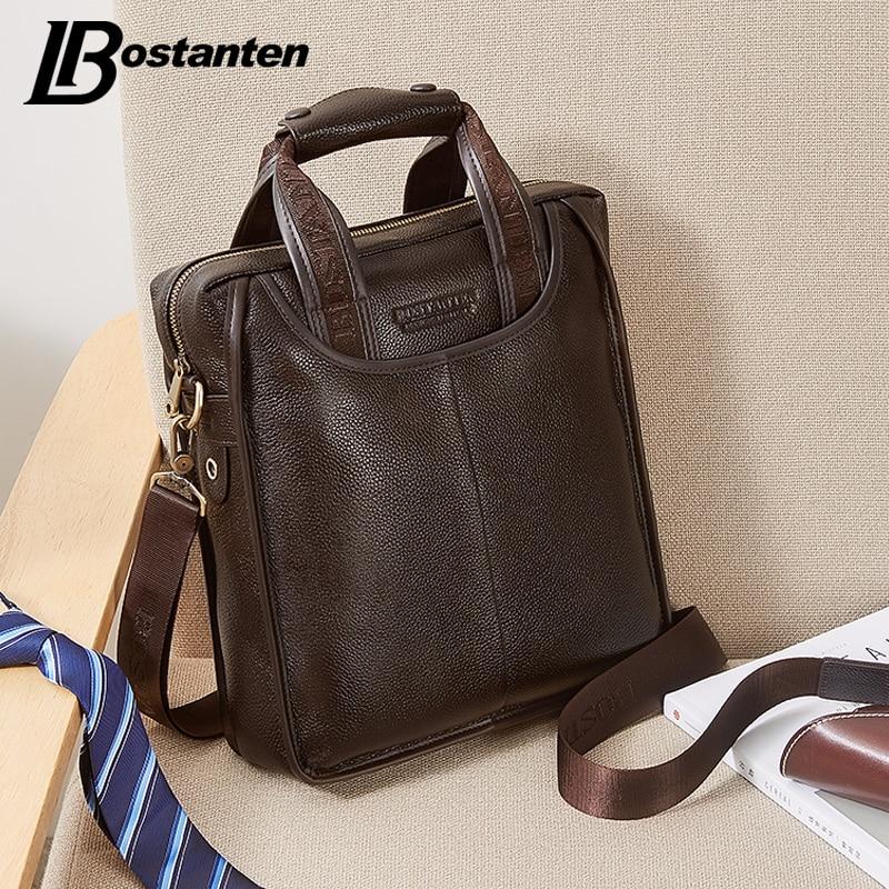 couro genuíno negócio pasta portátil Estilo : Bostanten Business Briefcase