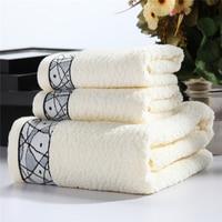 3 Pieces Cotton Towel Sets 600 Gram High Water Absorbent Antibacterial Bath Towel 27x55inch Face Towel