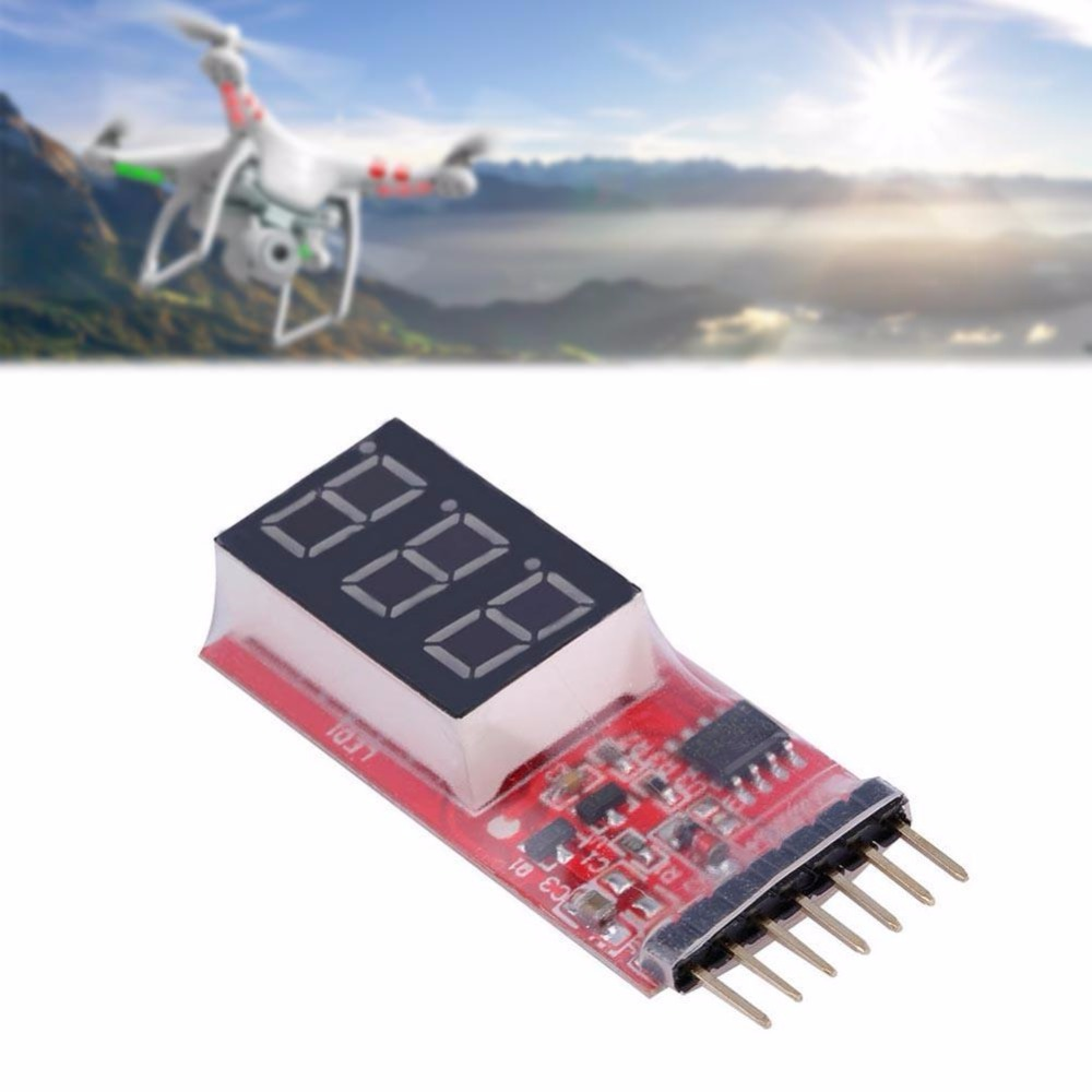 Red RC <font><b>Voltage</b></font> Lipo <font><b>Battery</b></font> Meter <font><b>Tester</b></font> Indicator 2S-6S LED Panel Voltmeter