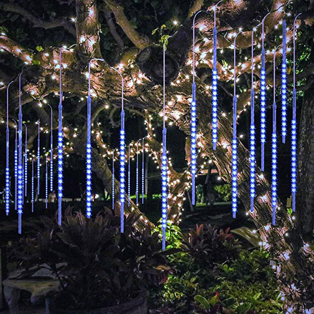 LED Shower Rain Tube Lights for Home and Party Decoration