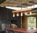 American Countryside Rural Loft Style Solid Wood Creative Pendant Light Vintage Restaurant Light Coffee Shop Light
