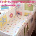 Promotion! 6/7PCS Baby Boy Crib Bedding Sets Crib Cot Cradle Bedlinen ,120*60/120*70cm