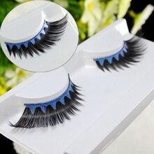 False Eyelashes Winged Blue Black