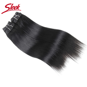 Image 5 - Sleek brazylijski Yaki proste włosy 4 zestawy Deal 190G 1 paczka ludzkie włosy splot wiązki nie Remy ludzki włos czerwony/Burg/1B/2/4 do przedłużania włosów