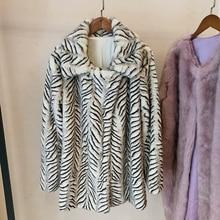 2018 New Style High-end Fashion Women Faux Fur Coat S60