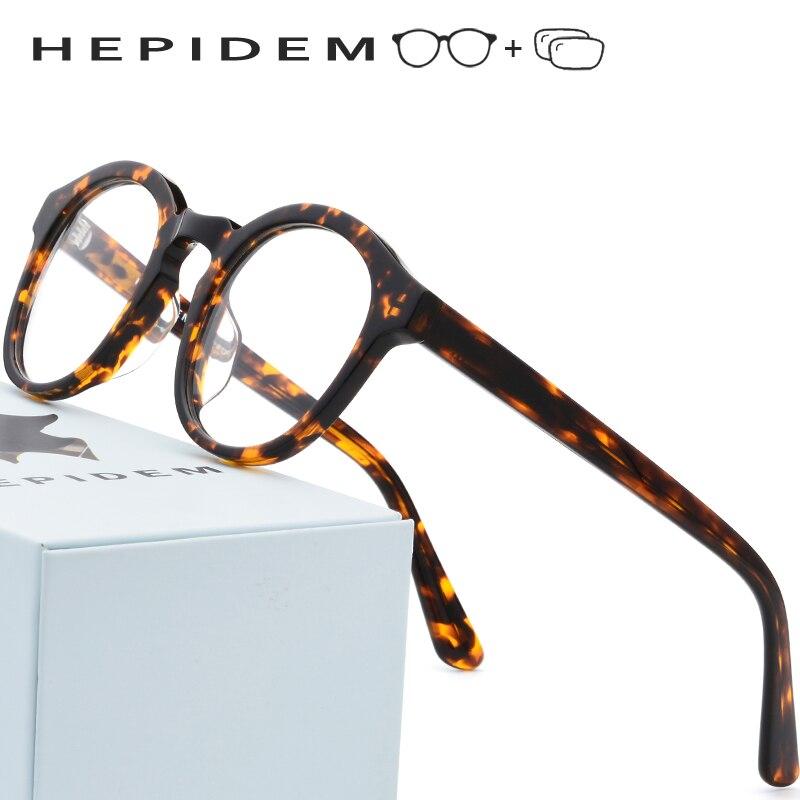 Acetate Prescription Glasses Men Vintage Round Eyeglasses 2018 New Women Myopia Optical Frame Spectacles Eyewear