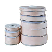 215 Peach Parfait 100% Real Pure Silk Ribbon for Embroidery Handcraft Double Face Taffeta Silk Tape 2/4/7/10/13/15/20/25/32mm