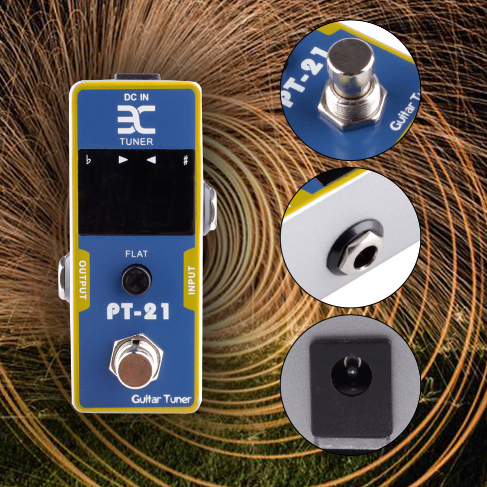 2017 High Quality Guitar Blue Pedal Tuner Electric Guitar Effect Pedal Guitar Bass Effect Pedal 9V Color Box Support Wholesale