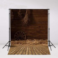 Country Barnyard Cottage Barn Straw Backdrops Vinyl Cloth Computer Printed Wall Photography Studio Background