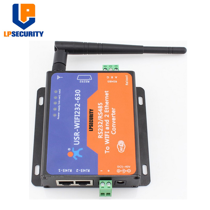 LPSECURITY USR-WIFI232-630 Modbus RTU To TCP Converters WiFi To Serial Or Ethernet Support Power Supply ESD Protection